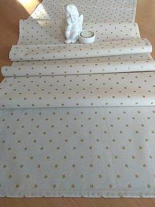 Úžitkový textil - Štóla zlaté hviezdičky - 12772340_