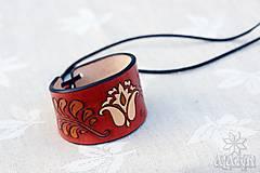 Náramky - Kožený náramok Ornament, šnurovací - 12772736_