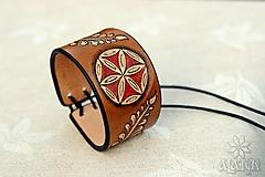 Náramky - Kožený náramok Ornament, šnurovací - 12773361_