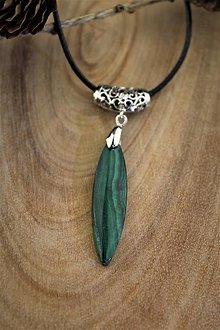 Sady šperkov - malachit prívesok - 12775549_