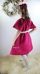 Detské oblečenie - Detské ľanové šaty - 12775162_