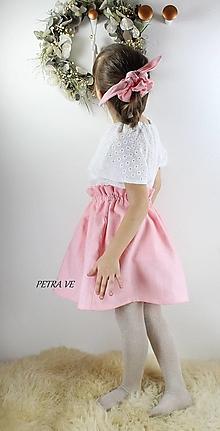 Detské oblečenie - Rose - detská ľanová suknička - 12774938_