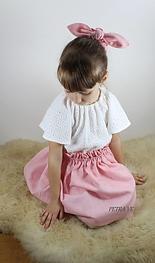 Detské oblečenie - Margarétka - biela blúzka z mušelínovej madeiry, detská - 12775116_