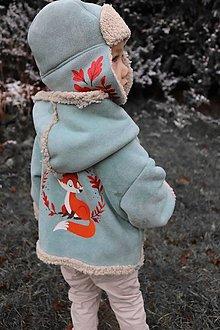 Detské oblečenie - Kožúšok a baranica - 12773061_