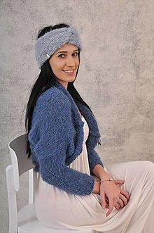 Ozdoby do vlasov - Hebká čelenka, alpaca,merino - 12776564_
