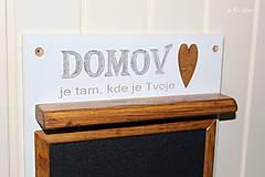 Tabuľky - Magnetický odkazovač s vešiakmi - DOMOV je tam... ... - 12776586_