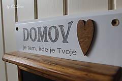 Tabuľky - Magnetický odkazovač s vešiakmi - DOMOV je tam... ... - 12776587_