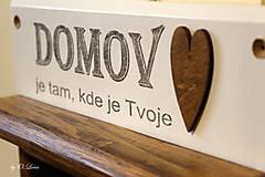 Tabuľky - Magnetický odkazovač s vešiakmi - DOMOV je tam... ... - 12776590_