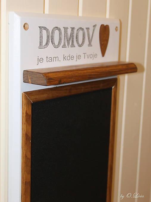 Magnetický odkazovač s vešiakmi - DOMOV je tam... ...