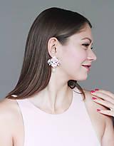 Náušnice - Náušnice s čipkou a perličkou. Staroružové - 12779956_