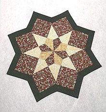 Úžitkový textil - Vianočná  hviezda - 12776175_