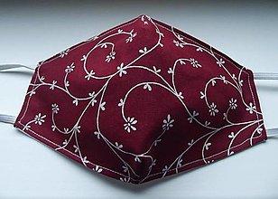 Rúška - dámske folk rúško bordové - 12776380_