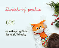 Darčekové poukážky - Darčekový poukaz v hodnote 60€ - 12779988_