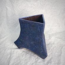 Dekorácie - Modrá váza - 12778822_