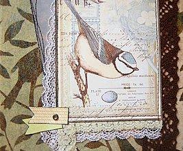 Papiernictvo - Album zápisník skicár vtáčik - 12777245_