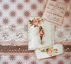 Papiernictvo - Album zápisník skicár dievča - 12777461_