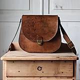Kabelky - Kožená retro kabelka *Vintage Brown* - 12777105_