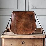 Kabelky - Kožená retro kabelka *Vintage Brown* - 12777119_