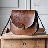 Kabelky - Kožená retro kabelka *Vintage Brown* - 12777783_