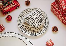 Nádoby - čičmanská porcelánová šálka s podnosom - 12778391_