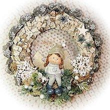 Dekorácie - Zimní věnec - Zimní holčička - 12779254_