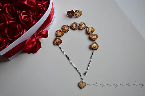 Šperky Detvianska Zuzanka biele kamienky (set náhrdelník a náušnice)