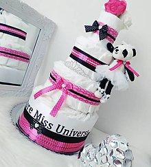Detské doplnky - Plienková torta Miss Universe - 12779156_
