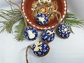 Dekorácie - Oriešky modré - 12778057_