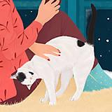 Grafika - Zimní večer - umělecký tisk, A4 - 12783965_