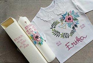 Detské oblečenie - Set do krstu-Ružový mak - 12783127_