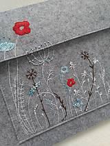 Na notebook - Ellie (ručne vyšívaný obal / taška) - 12781433_