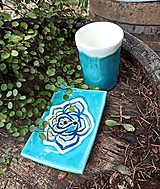 Nádoby - Kúpeľňová súprava s ružou - 12780756_