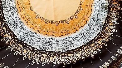 Úžitkový textil - Slnko, obrus s motívom mandaly - 12780117_