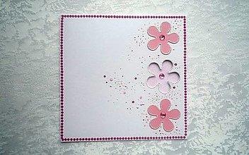 Papiernictvo - Pohľadnica - kvietky - 12780777_
