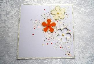 Papiernictvo - Pohľadnica - kvietky - 12780850_