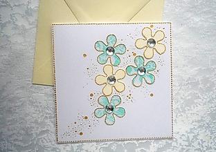 Papiernictvo - Pohľadnica - kvietky - 12780922_