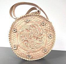 Kabelky - Kožená kabelka Constance - 12780199_