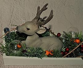 Svietidlá a sviečky - Poľovnícke Vianoce 1- svietnik - 12782930_