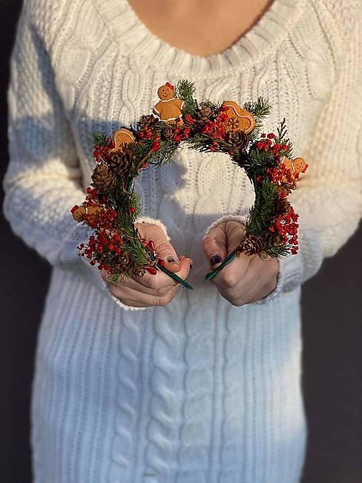 """Vianočná čelenka """"vôňa medovníkov"""""""