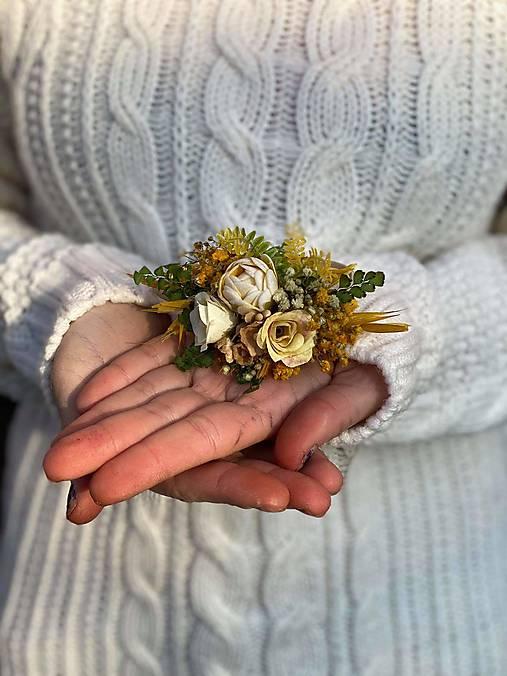 "Kvetinová gumička ""letmý dotyk slnka"""