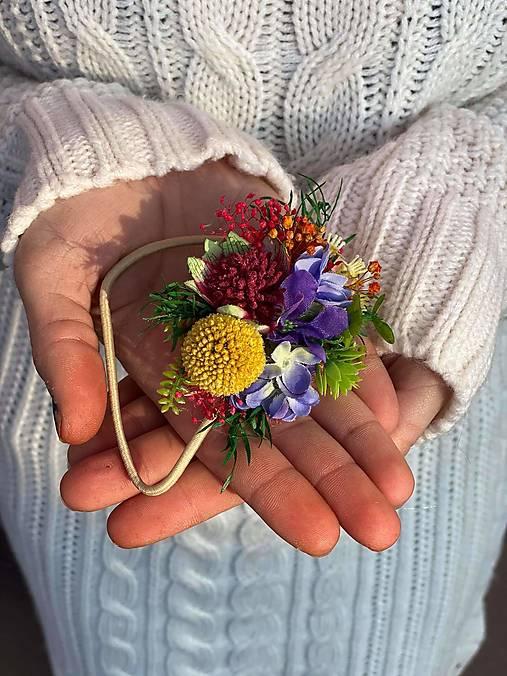 """Kvetinová gumička """"hrám sa s láskou"""""""
