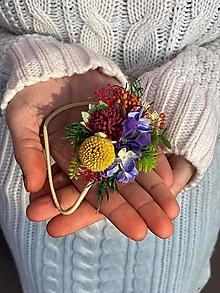 """Ozdoby do vlasov - Kvetinová gumička """"hrám sa s láskou"""" - 12781968_"""
