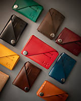 Tašky - Kožená peňaženka OrigaMa (Červená (I)) - 12783836_