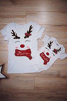 Tričká - Vianočné body pre bábätko a tričko pre mamu - 12782697_