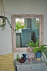 Zrkadlá - Ružové zrkadlo Antoinette - 12782370_