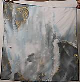 """Šatky - Maľovaná hodvábna šatka """"Pandora"""" - 12784198_"""