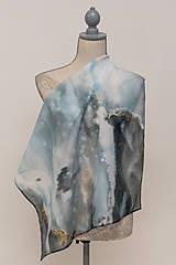 """Šatky - Maľovaná hodvábna šatka """"Pandora"""" - 12784210_"""