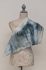 """Šatky - Maľovaná hodvábna šata """"My Eternal"""" - 12784213_"""