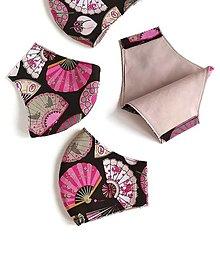 Rúška - Dizajnové dámske rúško tvarované - 12785460_