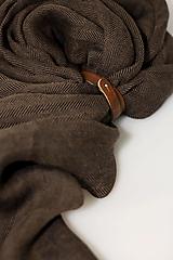 """Doplnky - Exkluzívny hnedý pánsky šál zo 100% ľanu """"Brownie"""" - 12784536_"""